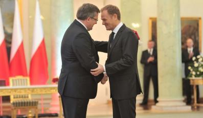 Prezydent Bronisław Komorowski i premier Donald Tusk