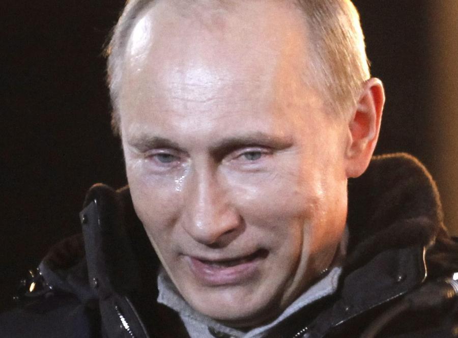 Łza na policzku Putina