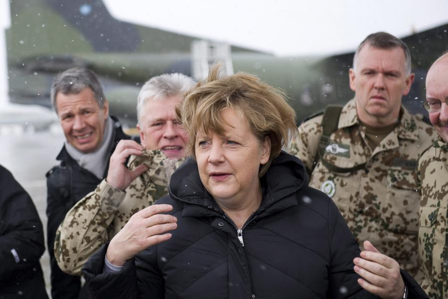 Kanclerz Niemiec Angela Niemiec z niespodziewaną wizytą w Afganistanie