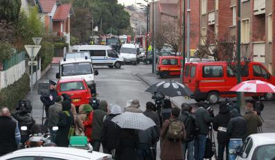 Miejsce zamachu w Tuluzie