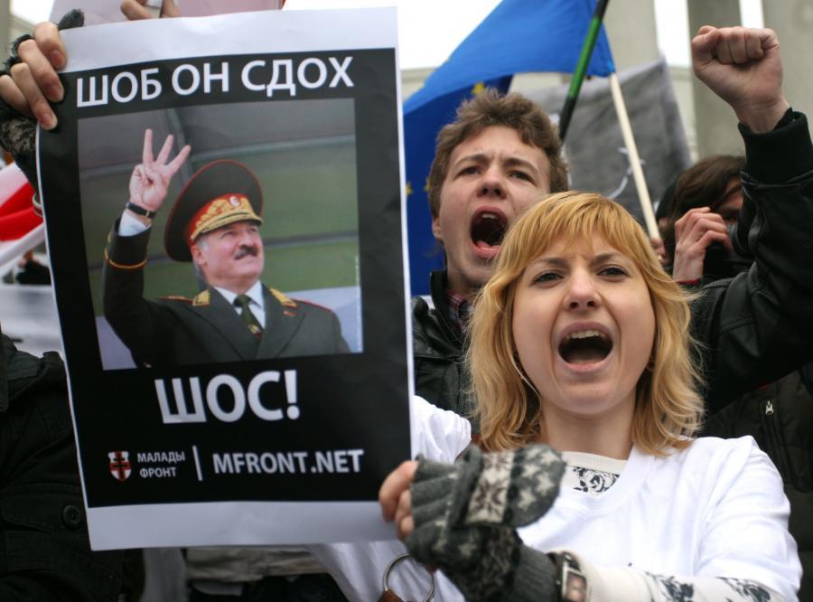 Demonstracja w Mińsku