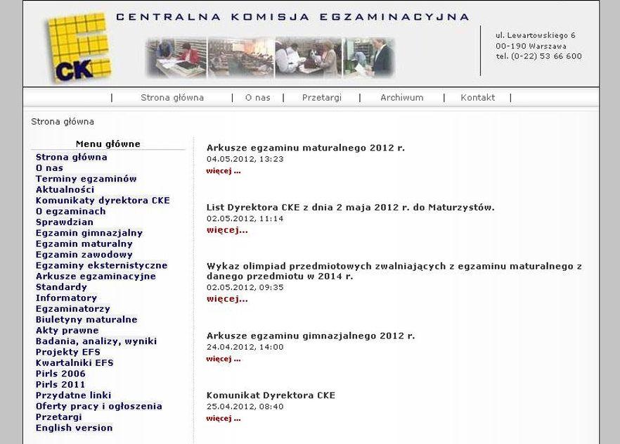 Strona CKE w weekend została zaatakowana przez hakerów