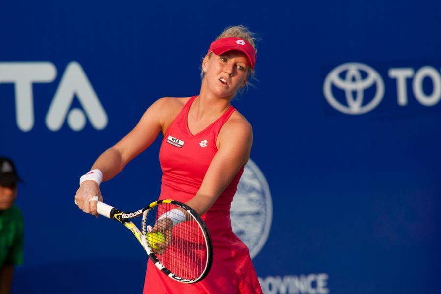 Urszula Radwańska na turnieju w Pattay w Tajlandii