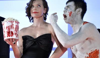 "Milla Jovovich na premierze ""Resident Evil: Retrybucja"""