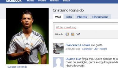 Ronaldo najpopularniejszy na Facebooku