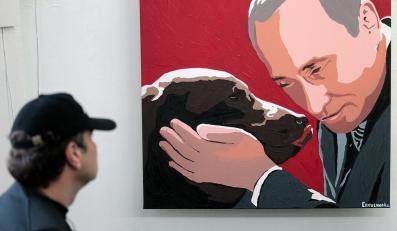 Obraz Putina z psem