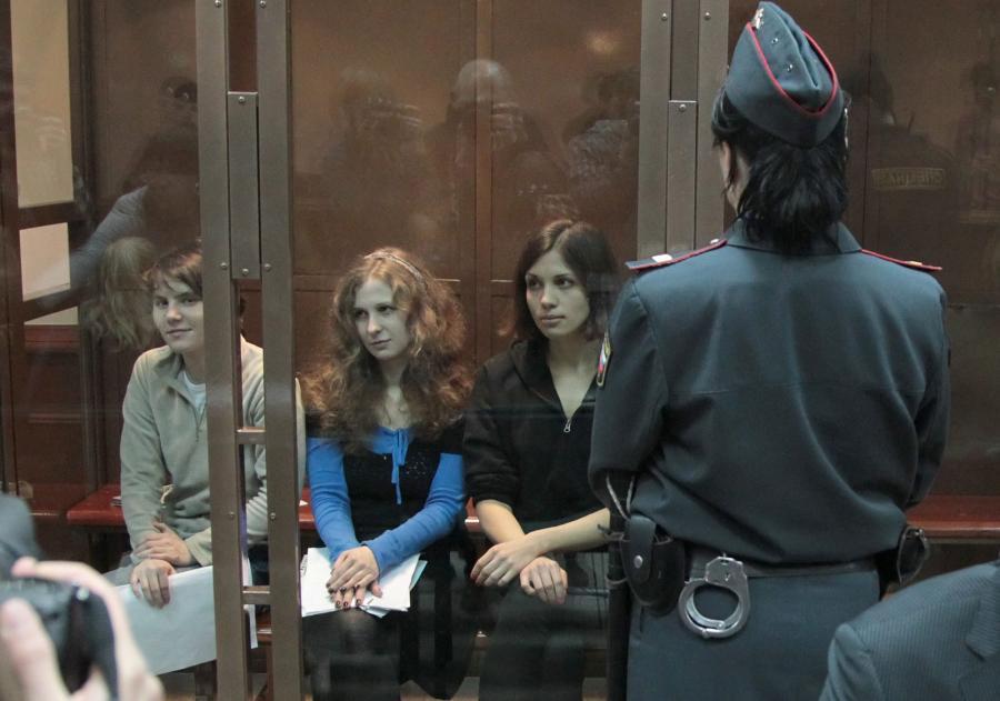 Aktywistki Pussy Riot w sądzie