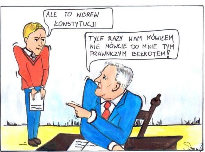 Komiks PSL o Jarosławie Gowinie