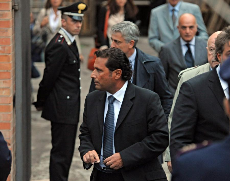 Francesco Schettino w sądzie