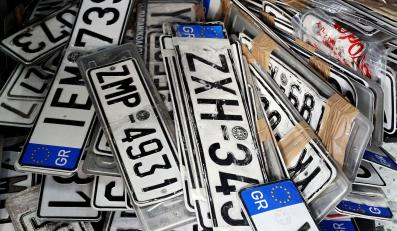 Greckie tablice rejestracyjne