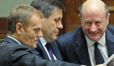 Donald Tusk, Janusz Piechociński i Jacek Rostowski