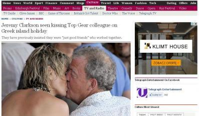 Jeremy Clarkson i Phillipa Sage w Grecji