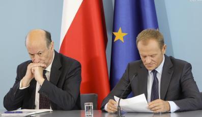 Jacek Rostowski i Donald Tusk