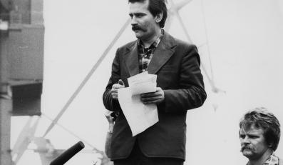 1980 rok - Lech Wałęsa w Stoczni Gdańskiej