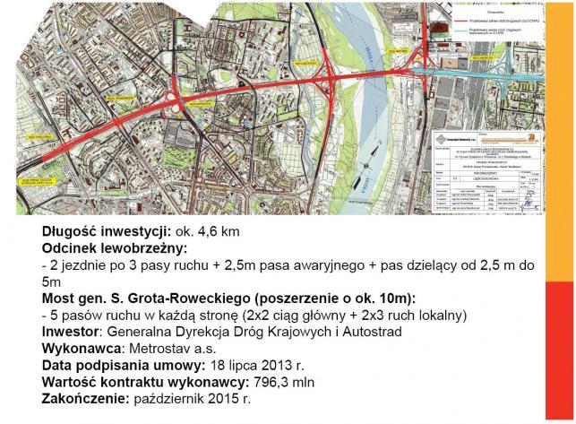Trasa Armi Krajowej w Warszawie do remontu