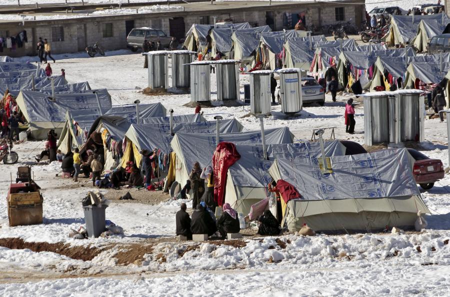 Obóz uchodźców z Syrii
