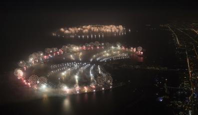 Fajerwerki sylwestrowe w Dubaju