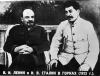Włodzimierz Lenin i Józef Stalin