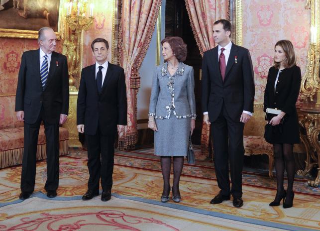 Hiszpańska rodzina królewska i Nicolas Sarkozy