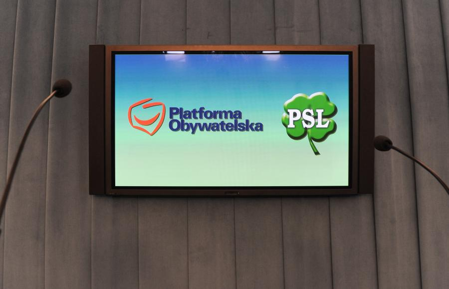Logo Platformy Obywatelskiej i PSL