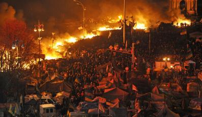 Zamieszki w Kijowie na Majdanie