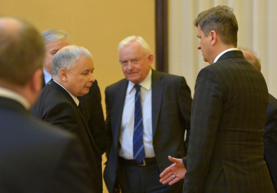 Jarosław Kaczyński na spotkaniu u premiera