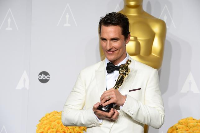 """Matthew McConaughey z Oscarem za rolę w filmie """"Witaj w klubie"""""""