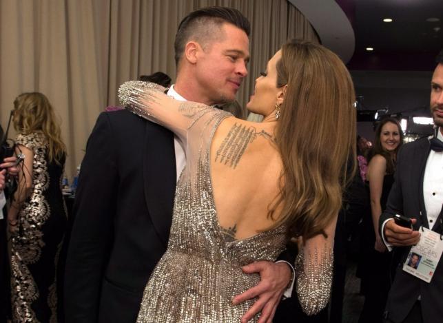 Brad Pitt i Angelina Jolie na gali Oscarów 2014