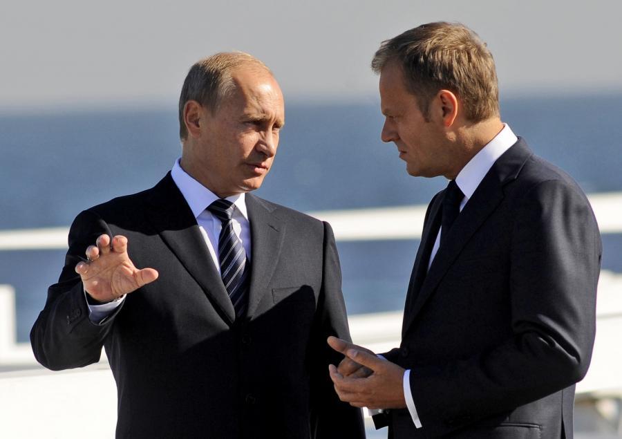 Władimir Putin i Donald Tusk na sopockim molo