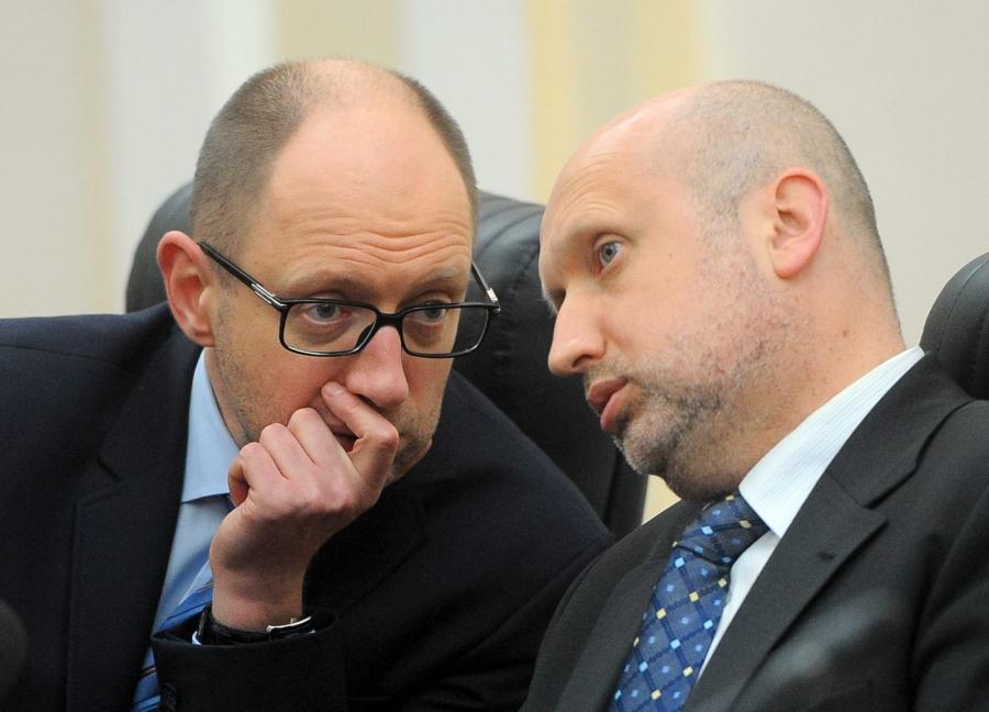 Arsenij Jaceniuk i Ołeksandr Turczynow