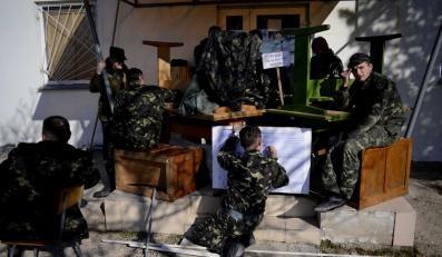 Ostatnia baza wojskowa, która nie skapitulowała po aneksji Krymu przez Rosję w Belbek na Krymie