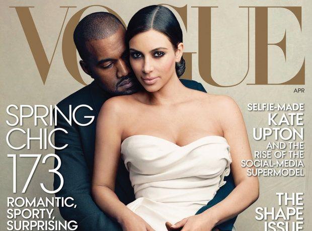 Kim Kardashian i Kanye West na okładce Vogue\'a