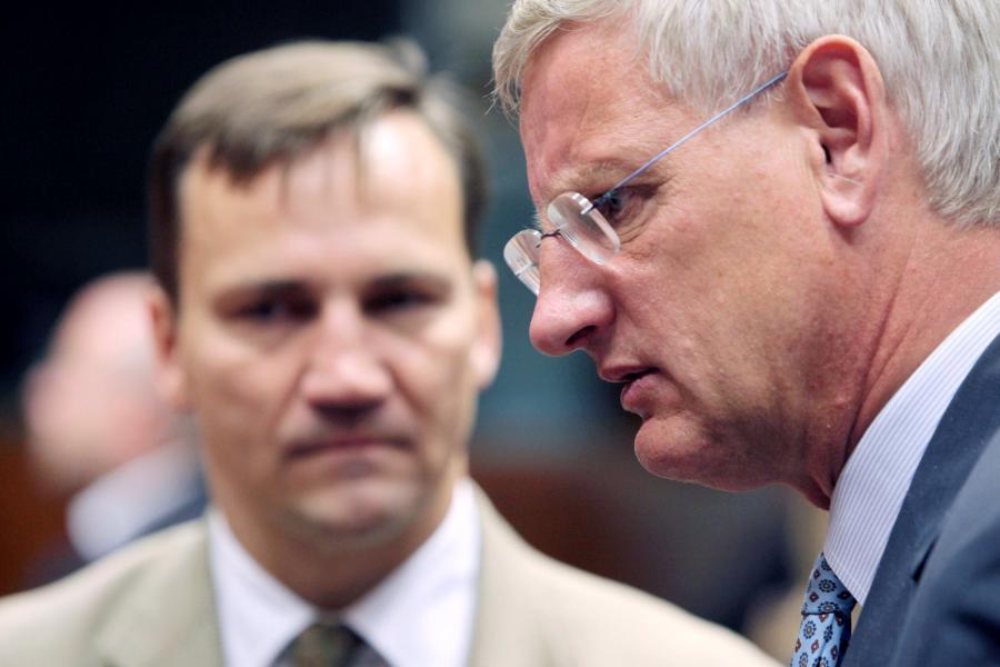 Radosław Sikorski i Carl Bildt