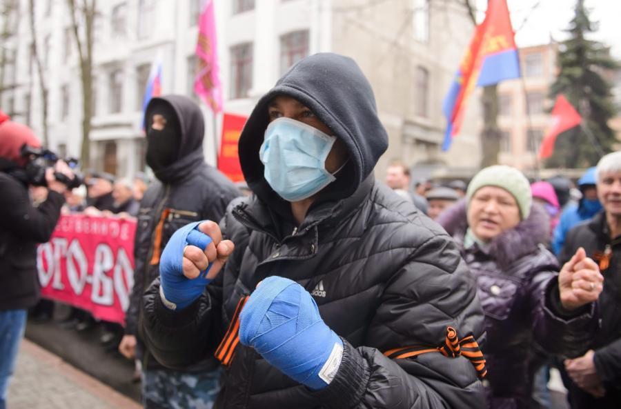 Prorosyjscy separatyści w Charkowie