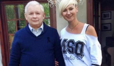 Jarosław Kaczyński i Karina Kosson