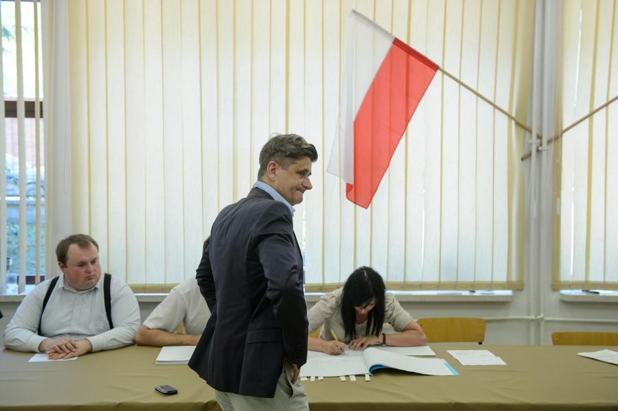 Janusz Palikot głosuje w Lublinie