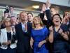 Radość w sztabie Platformy Obywatelskiej tuż poogłoszeniu sondażowych wyników wyborów europejskich