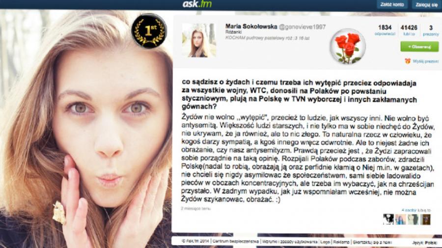Kontrowersyjny wpis Marii Sokołowskiej