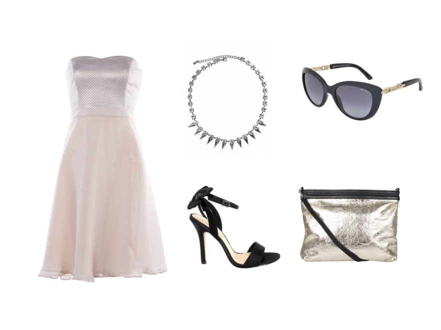 Beżowa sukienka w roli głównej - STYLIZACJE na lato 2014