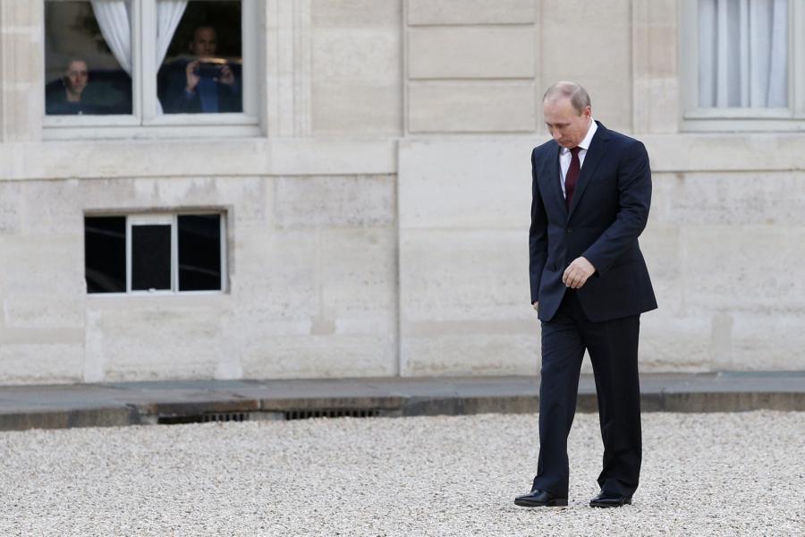 Władimir Putin w Paryżu