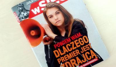 """Tygodnik """"wSieci"""", w którym Marysia Sokołowska wyjaśnia, dlaczego premier Donald Tusk jest zdrajcą"""