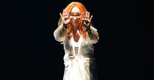 Tori Amos podczas koncertu w Sali Kongresowej w Warszawie