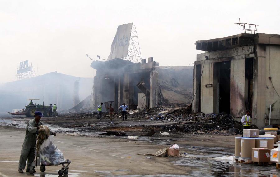 Atak talibów na lotnisko
