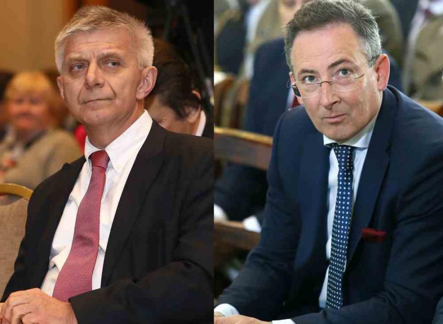 Marek Belka i Bartłomiej Sienkiewicz