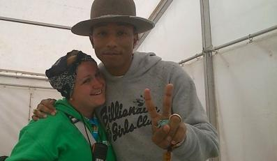 "Pharrell Williams i Kasia ""Pinky"""