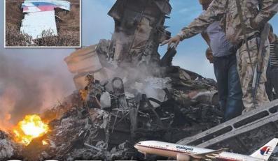 katastrofa samolot MH17 MH-17 okładka gazety Ukraina