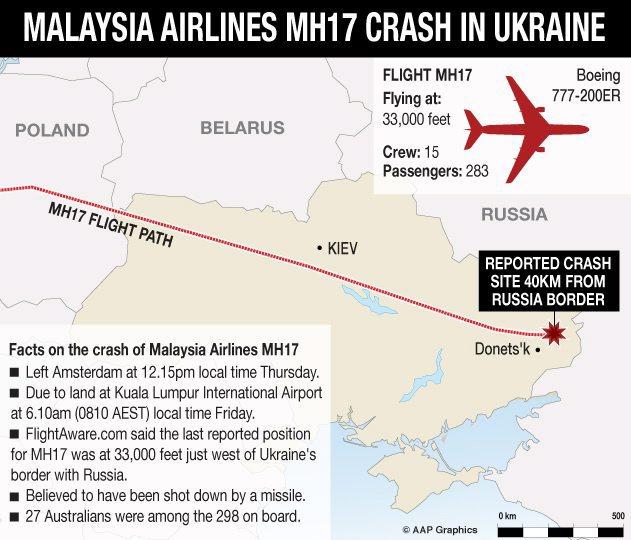 Katastrofa malezyjskiego samolotu