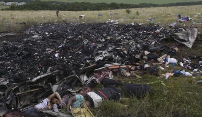Szczątki zestrzelonego boeinga