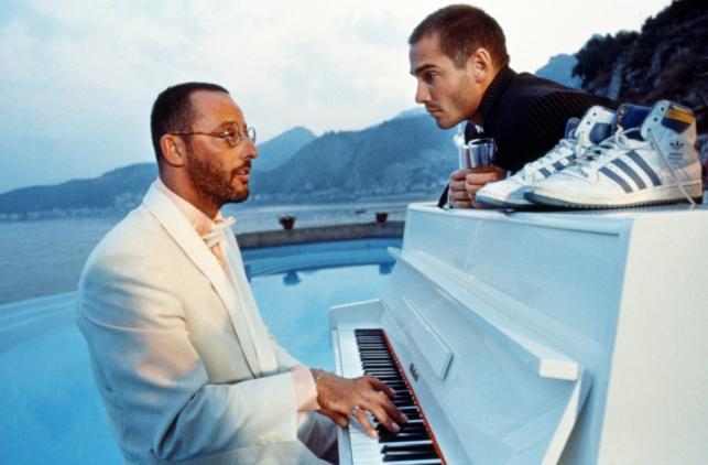 "Jean Reno i Jean-Marc Barr w filmie ""Wielki błękit"""
