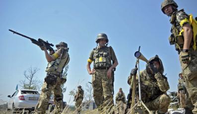 """Ukraińscy żołnierze z ochotniczego batalionu """"Donbas"""""""